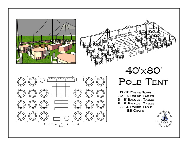 Wedding tent layout before you start pricing tents you for Wedding tent layout tool