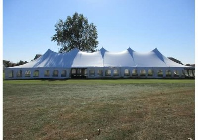 40'x120' Pole tent with window sidewalls