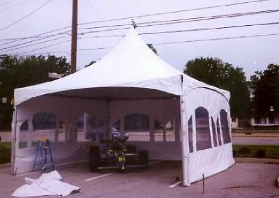 20'x20' Frame tent with window sidewalls