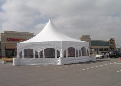 Hex Frame tent with window sidewalls