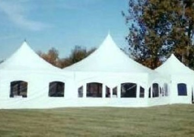 Frame tents with window sidewalls
