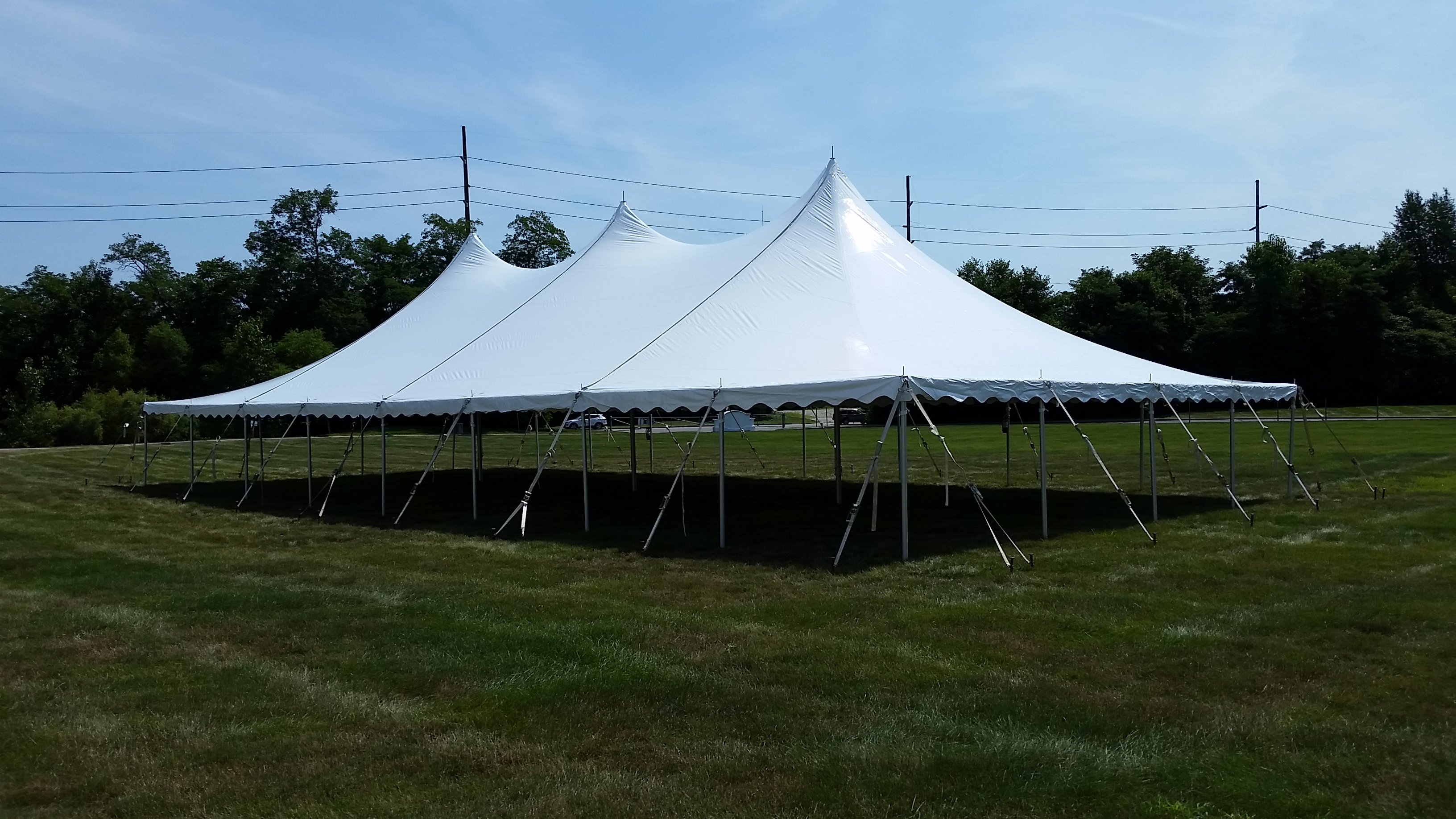 Pole Tents for wedding party events