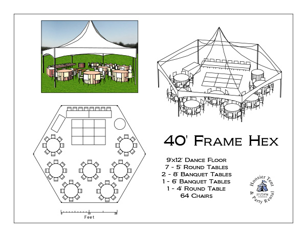 40' Frame Hex