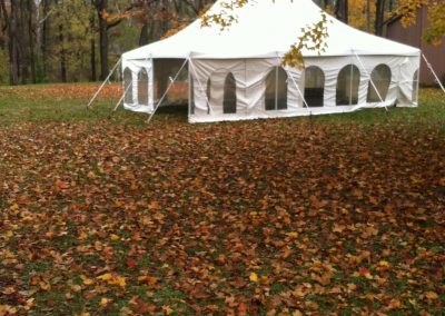 20'x30' Pole tent with window sidewalls